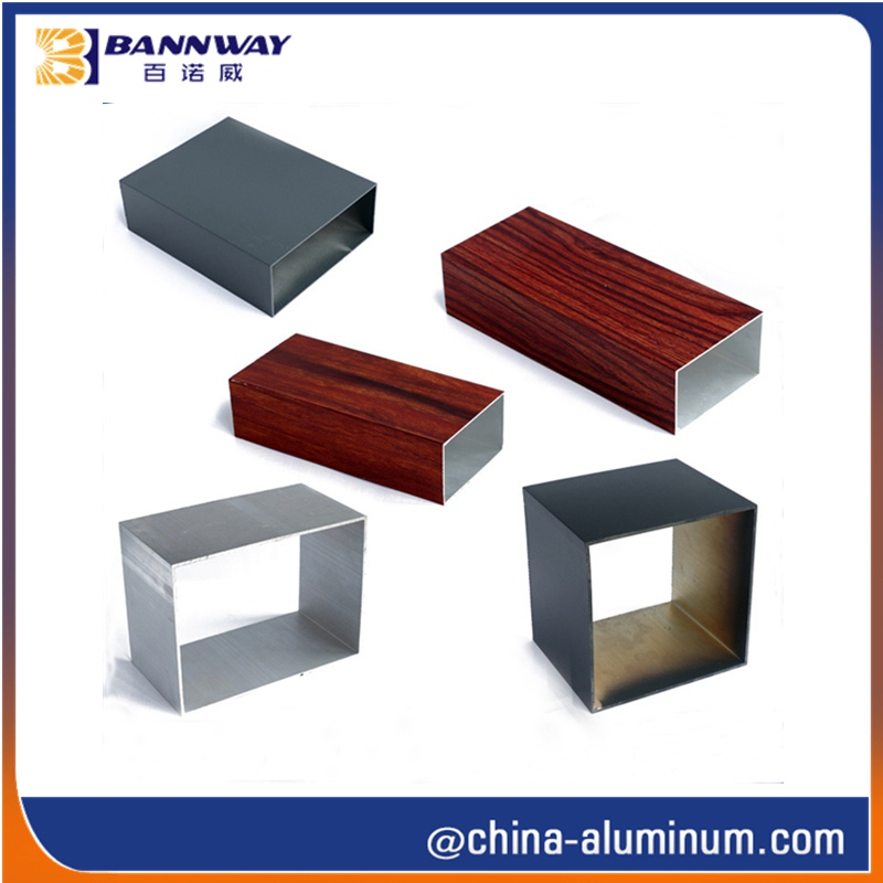 100X100mm Aluminum Extruded Square Tube