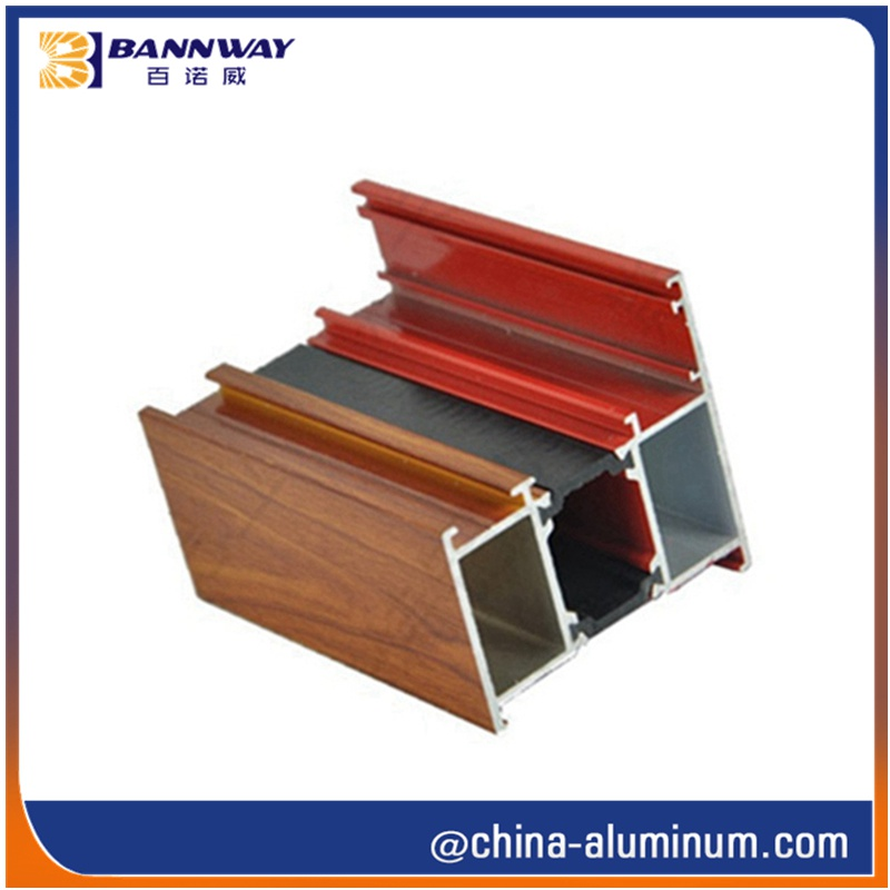 Wood Grain Aluminium Profiles